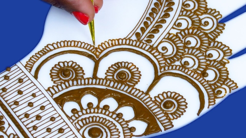 Wow Very Pretty Eid Mehndi Design for Beginners Easy Mehndi Design for Hands by Sonia Goyal 481