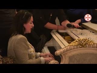 Тамара Гвердцители наприеме в Патриаршей резиденции по случаю дня рождения Патриарха Грузии Илии II, 5()-01-2020, Тбилиси)