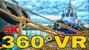 360° VR Port Volos Industrial Area Walking Tour Visit Greece Travel Vlog 5K 3D Virtual Reality HD 4K