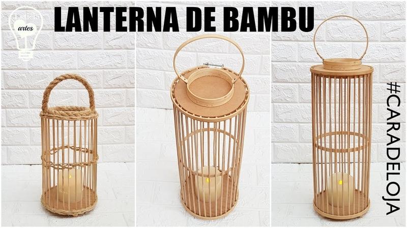 IDEIA COM PALITO DE CHURRASCO LANTERNA CARADELOJA