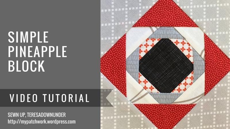 Video tutorial Simple pineapple block (Karin Hellaby technique)