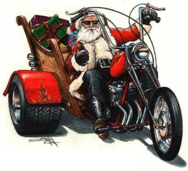 Дедушка на мотоцикле картинка