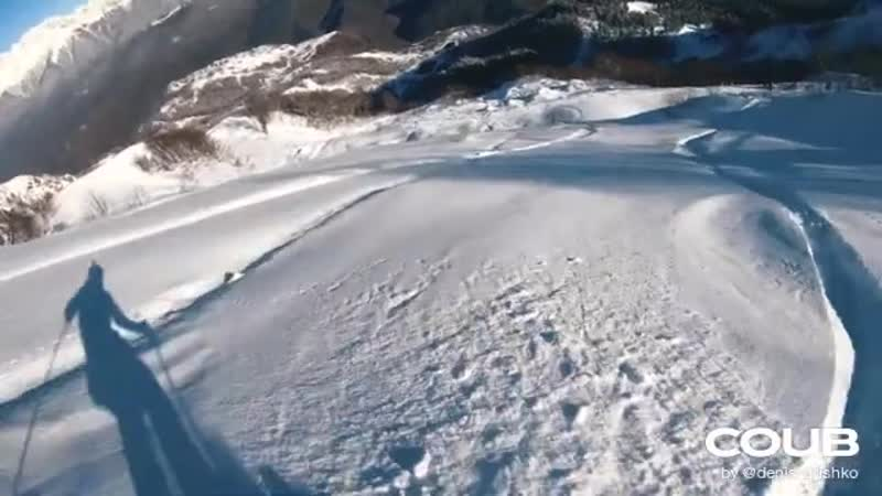 Second Snow looking for the right angles Snowboard FPV