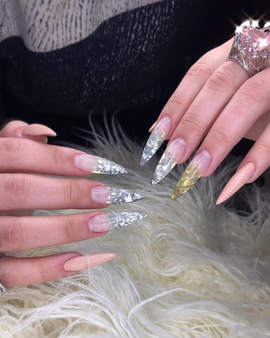 Наращивание ногтей длина 3 фото