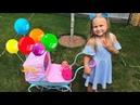 НОВАЯ Коляска и кукла почти РЕБОРН для девочек ! Алиса играет в куклы КАК МАМА