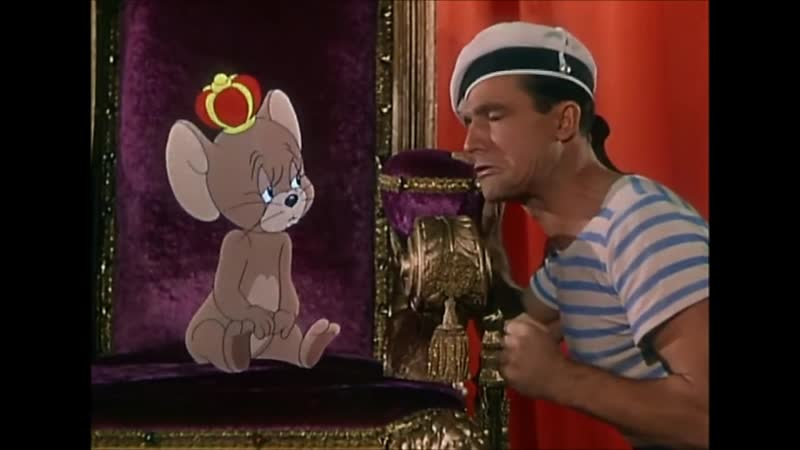 Jerry Mouse and Gene Kelly Dance Anchors Aweigh 1945