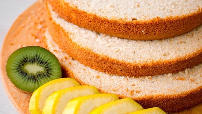 Очень вкусный фруктовый манговый Шифоновый бисквит Я ТОРТодел