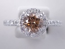 1.58 ctw Round Brilliant Cut Natural Chocolate Diamond Engagement Ring - BigDiamondsUSA