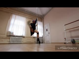 Exotic pole dance by baby queen