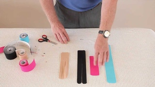 How to prepare, cut and shape strips of Kinesiology tape for specific sports injury applications