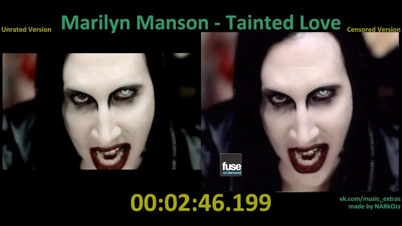 Marilyn Manson - 2001 Tainted Love (Unrated x Censored Version)