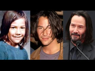 Keanu reeves face evolution from childhood to fifties _ hollywood insider