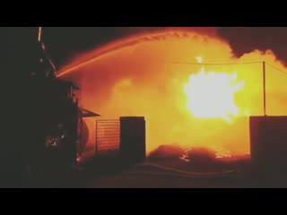 В станице Червленая Чеченской Республики произошел пожар на АЗС