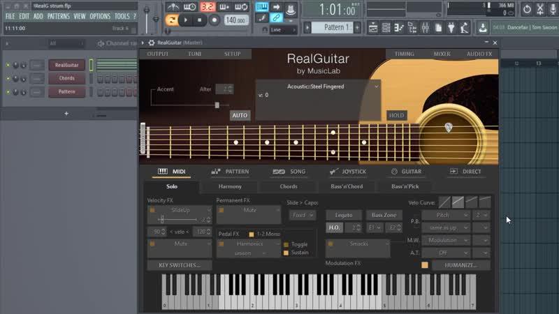 RealGuitar 4 - игра боем (аккордами)