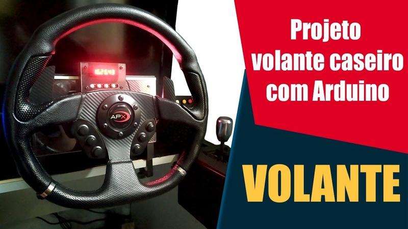 PROJETO VOLANTE CASEIRO Volante Finalizado Steering Wheel