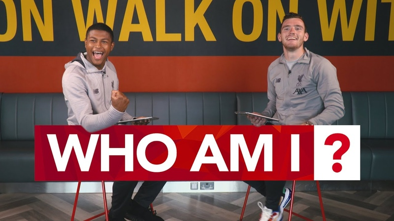 'I'm amazing at this game ' Robertson Brewster play 'Who Am I ' with their Liverpool teammates
