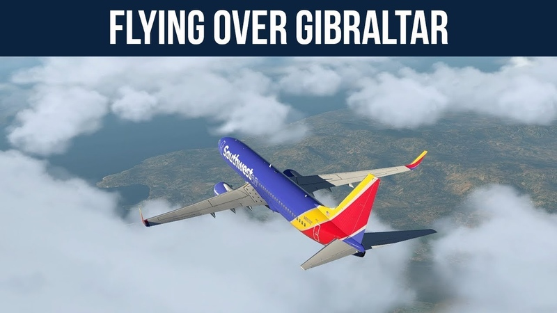 Flying over Gibraltar a dangerous airport LXGB Boeing 737 800
