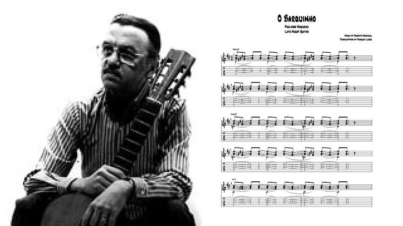 Paulinho Nogueira O Barquinho Transcription