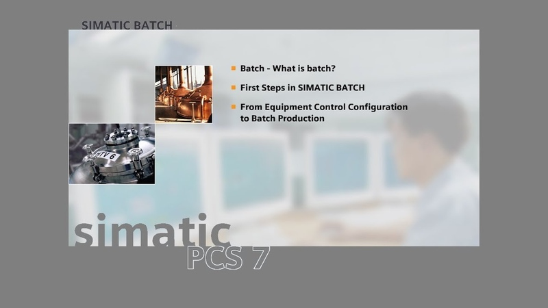 07 - SIMATIC BATCH - The Components