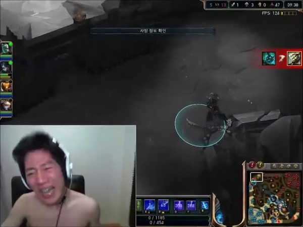 KOREAN GAMER GOES CRAZY at League of Legends LOL