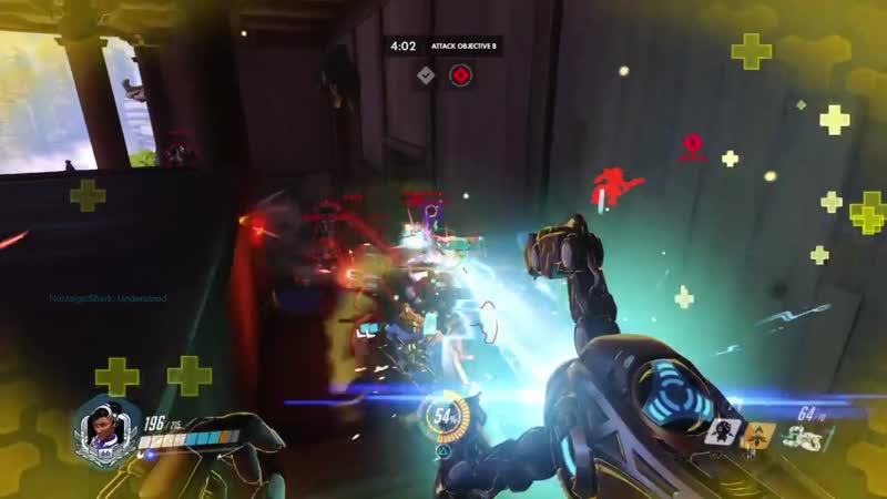 D Va fell for my trap Symmetra rolling in Mystery Healing helped with this