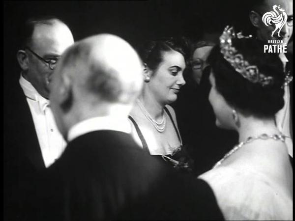 Sharman Douglas At Film Performance 1953 1954
