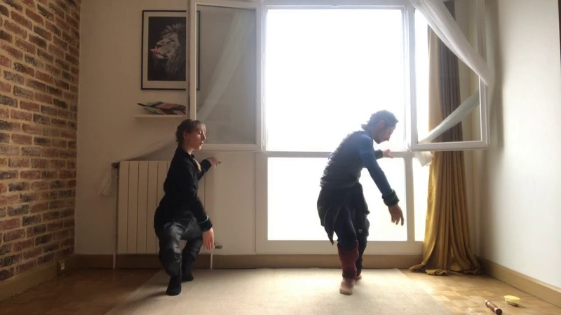 Ballet barre training at home by Philippe Solano and Tiphaine Prévost music Nolwenn Collet