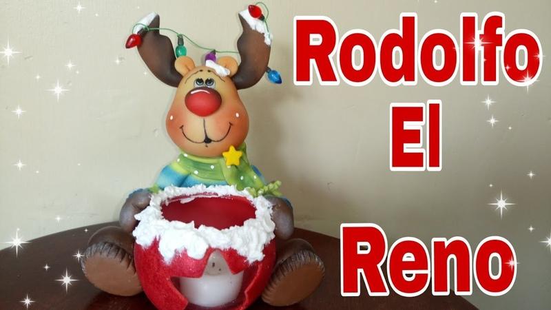 DIY Reno | como hacer un reno de navidad | dulcero o porta velas | pasta flexible | porcelana fría