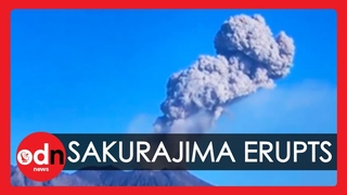 Spectacular Eruption of Sakurajima Volcano Sends Plumes of Ash Into Japanese Sky