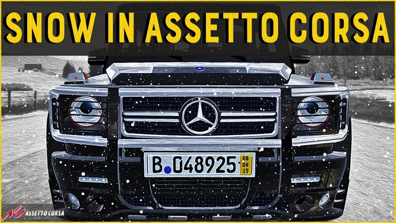Snow in Assetto Corsa ft AMG G65 Deems Winter Mod Adobe After Effects Cinematic Sim Racing