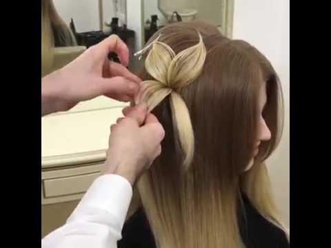 Красивая Прическа Цветок Beautiful Flower Hairstyle