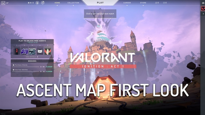 VALORANT ASCENT MAP New Agent Selection Menu
