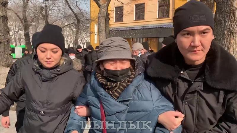 Женский СОБР в действии Алматы