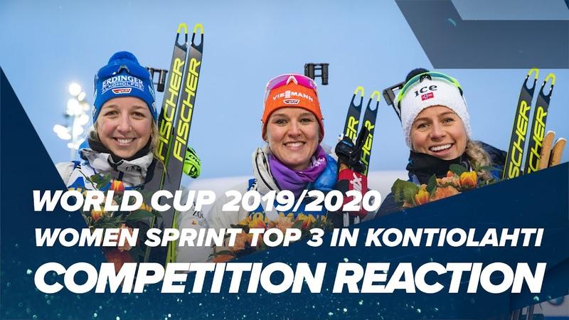 Kontiolahti Women Sprint top 3 Reactions