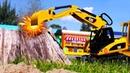 Автомастерская Саши - сломанный Бульдозер. Видео про машинки игрушки. Крутые игрушки для мальчиков