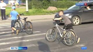 Девочка-велосипедист попала под колеса автомобиля в Петрозаводске