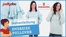 Oversize-Pullover nähen - 2 Varianten: Strickstoff Volants Sweatstoff Kapuze