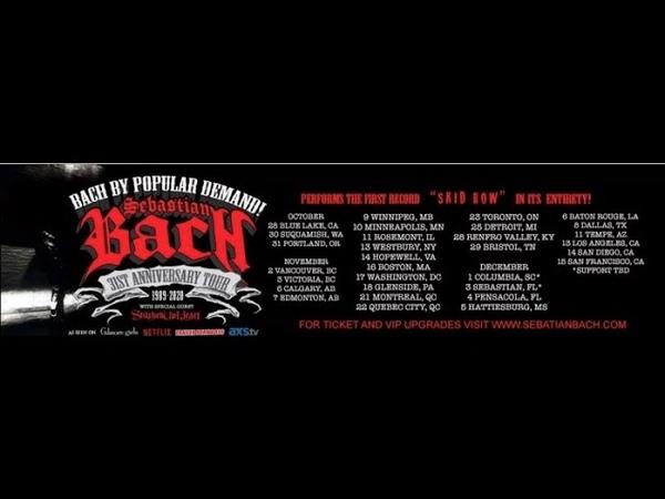 Sebastian Bach Cant Stand The Heartache Atlanta 2019 Skid Row LP 30th Anniversary Tour