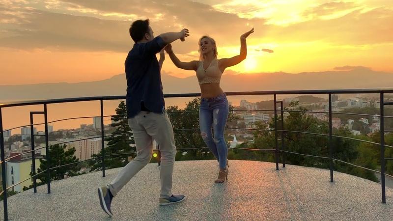 AMAZING SALSA Dance With Most Beautiful Sunset View