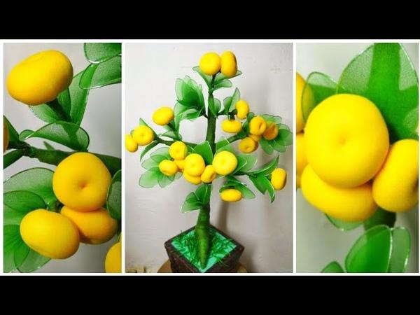 88 Ide Kreatif Cara membuat pohon jeruk dari stoking nylon stocking Orange tree