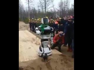 В Красноярском крае робот Брежнев посадил дерево. назвали, потому что он