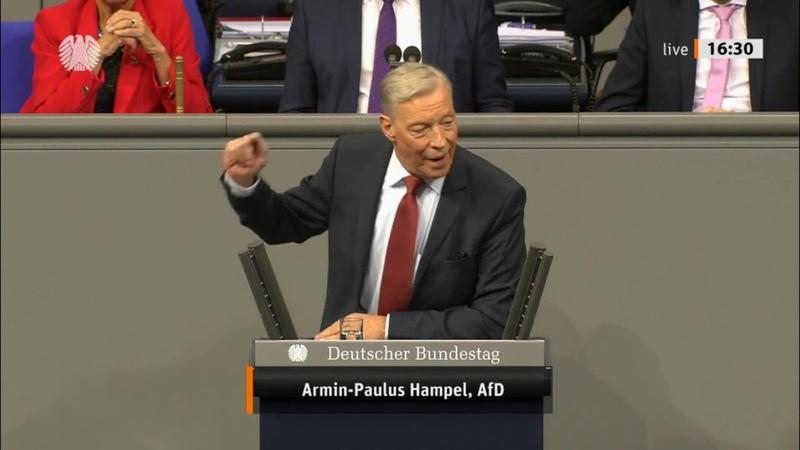 Armin Paul Hampel AfD rastet aus und nimmt sich Christian Schmidt CSU zur Brust 16 10 2019