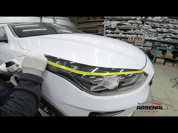 Установка тюнинг ресничек передней оптики автомобиля KIA Ceed 3 поколения от компании ArsenalTuning