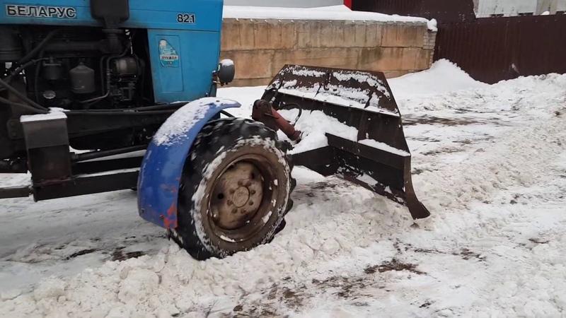 очистка снега бульдозерным отвалом БП 2 2 ВяткаАгроДизель