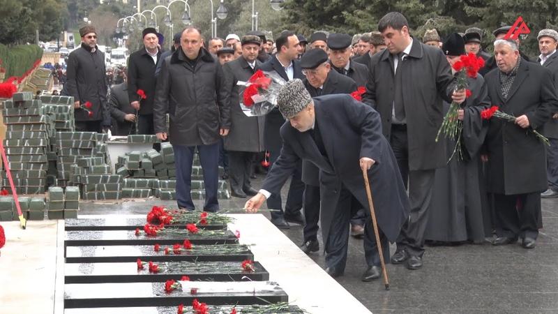 Qafqaz Müsəlmanları İdarəsində 20 Yanvar şəhidləri yad olunub