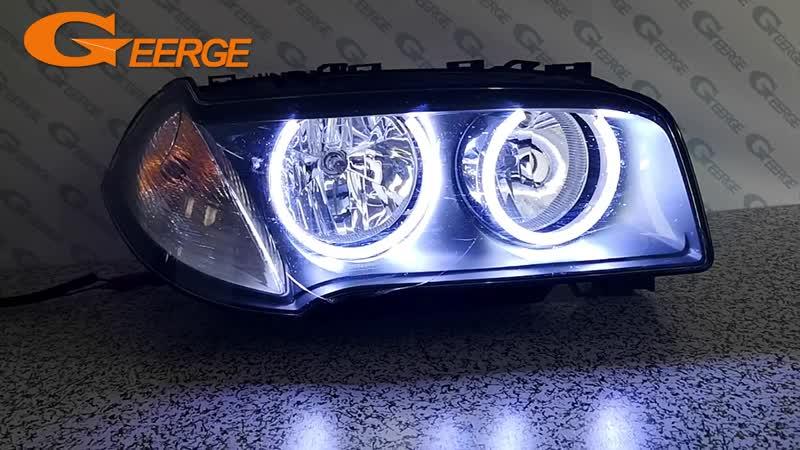 For BMW E83 X3 2007-2010 Halogen headlight Excellent Ultra bright illumination COB led angel eyes kit halo rings