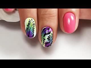 Дизайн ногтей с пигментами| burning man nails