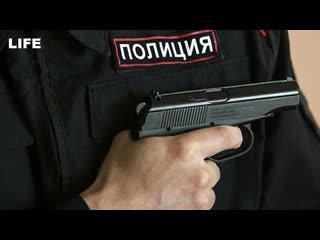 Момент расстрела двух полицейских в Москве