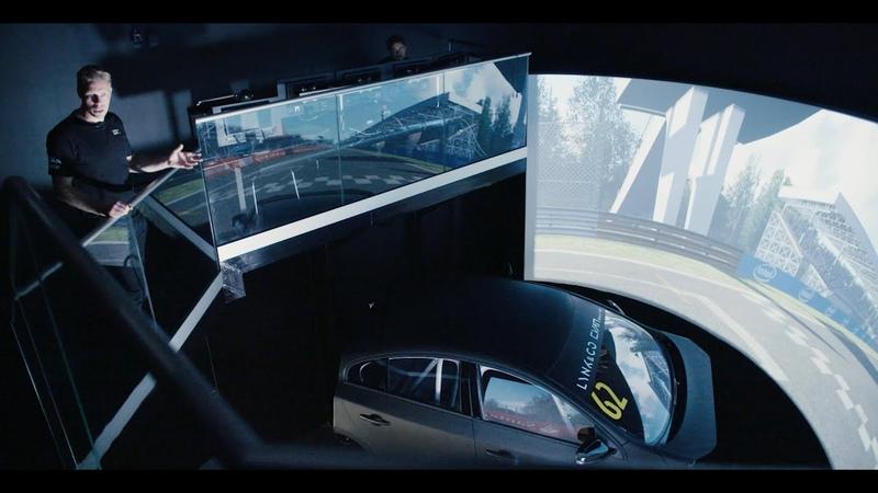 The big sim racing rig of Lynk Co Cyan Racing