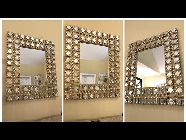 Dollar Tree DIY - 💕 Gold Glam Wall Mirror 💕